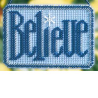 Believe 2008 Bead Holiday Ornament Kit Mill Hill 2008 Winter Greetings