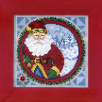 Santa Claus 2009 Bead Cross Stitch Kit Mill Hill 2009 Jim Shore Santas