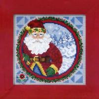 Santa Claus 2009 Bead Cross Stitch Kit Mill Hill 2009 Jim Shore Santas