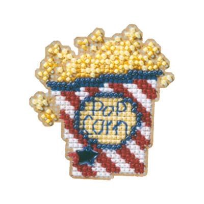 Popcorn Beaded Cross Stitch Ornament Kit Mill Hill 2009 Spring Bouquet