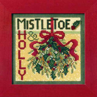 Mistletoe Cross Stitch Kit Mill Hill 2009 Buttons & Beads Winter