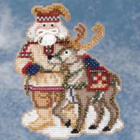 Lapland Santa Bead Ornament Kit Mill Hill 2009 Arctic Circle Santas
