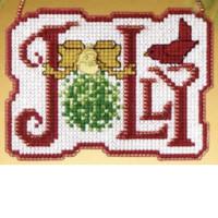 Jolly Bead Cross Stitch Ornament Kit Mill Hill 2009 Winter Greetings