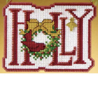 Holly 2009 Beaded Cross Stitch Kit Mill Hill 2009 Winter Greetings