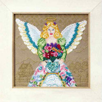 Spring Angel Beaded Cross Stitch Kit Mill Hill 2010 Jim Shore Angels
