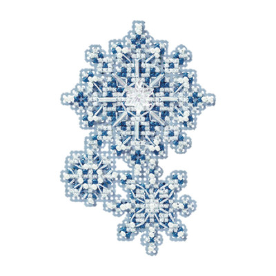 Snowflakes Bead Christmas Ornament Kit Mill Hill 2010 Winter Holiday
