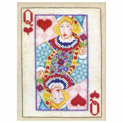 Queen of Hearts Beaded Cross Stitch Kit Mill Hill 2010 Jim Shore Cards (JS300203)