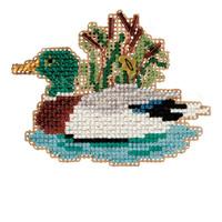 Mallard Beaded Cross Stitch Ornament Kit Mill Hill 2010 Autumn Harvest