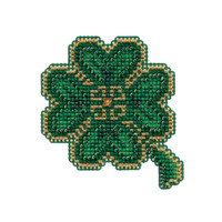 Lucky Day Bead Cross Stitch Ornament Kit Mill Hill 2010 Spring Bouquet
