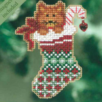 Kitty's Stocking Christmas Ornament Kit Mill Hill 2010 Winter Holiday