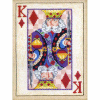 King of Diamonds Bead Cross Stitch Kit Mill Hill 2010 Jim Shore Cards (JS300204)