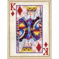 King of Diamonds Bead Cross Stitch Kit Mill Hill 2010 Jim Shore Cards (JS300204)