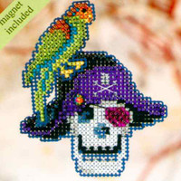 Irate Pirate Halloween Bead Ornament Kit Mill Hill 2010 Autumn Harvest