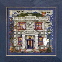 Haunted Library Cross Stitch Kit Mill Hill 2010 Buttons & Beads Autumn