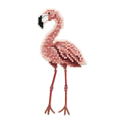 Flamingo Beaded Cross Stitch Kit Mill Hill 2010 Spring Bouquet
