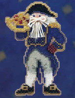 Captain Santa Beaded Ornament Kit Mill Hill 2010 Seafaring Santas