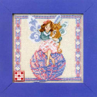 Yarn Fairy Beaded Cross Stitch Kit Mill Hill 2011 Jim Shore Fairies