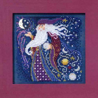Wizard Beaded Cross Stitch Kit Mill Hill 2011 Buttons & Beads Autumn