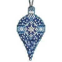 Sapphire Snow Beaded Ornament Kit Mill Hill 2011 Christmas Jewels