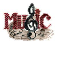 Music Beaded Cross Stitch Ornament Kit Mill Hill 2011 Autumn Harvest