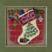 Holiday Stocking Bead Cross Stitch Kit Mill Hill 2011 Buttons & Beads