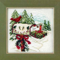 Holiday Delivery Bead Cross Stitch Kit Mill Hill 2011 Buttons & Beads