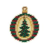 Golden Tannenbaum Cross Stitch Kit Mill Hill 2011 Christmas Jewels