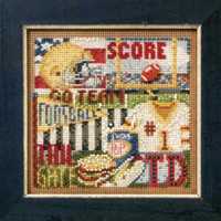 Football Hero Cross Stitch Kit Mill Hill 2011 Buttons & Beads Autumn