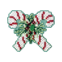 Candy Canes Bead Christmas Ornament Kit Mill Hill 2011 Winter Holiday