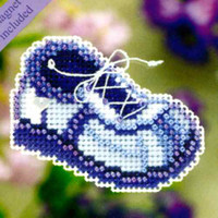Blue Sneaker Beaded Ornament Kit Mill Hill 2011 Spring Bouquet