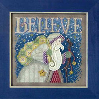 Believe 2011 Cross Stitch Kit Mill Hill 2011 Buttons & Beads Winter