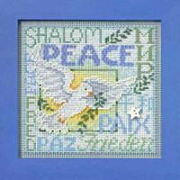World Peace Cross Stitch Kit Mill Hill 2012 Buttons & Beads Winter