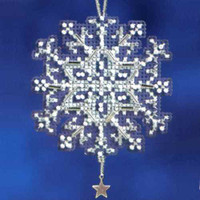 Star Crystal Beaded Charmed Ornament Kit Mill Hill 2012 Snow Crystals