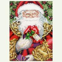 Santa by Nora Corbett - Chart, Fabric, Embellishment Pack - Mirabilia