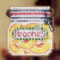 Peaches Beaded Cross Stitch Kit Mill Hill 2012 Autumn Harvest