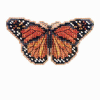 Monarch Butterfly Bead Cross Stitch Kit Mill Hill 2012 Spring Bouquet