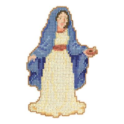 Mary Beaded Christmas Cross Stitch Kit Mill Hill 2012 Nativity Trilogy