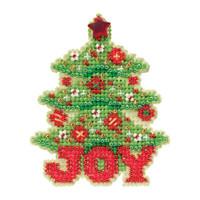 Joy Tree Beaded Christmas Ornament Kit Mill Hill 2012 Winter Holiday
