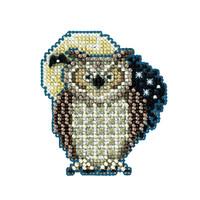 Hooty Owl 2012 Beaded Cross Stitch Kit Mill Hill 2012 Autumn Harvest