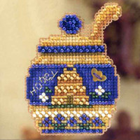 Honey Pot Beaded Cross Stitch Kit Mill Hill 2012 Autumn Harvest