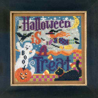 Halloween Is a Treat Beaded Kit Mill Hill 2012 Buttons & Beads Autumn