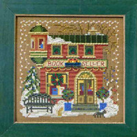 Book Seller Cross Stitch Kit Mill Hill 2012 Buttons & Beads Winter