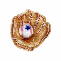 Baseball Mitt Beaded Cross Stitch Kit Mill Hill 2012 Spring Bouquet