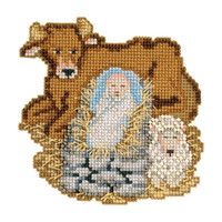 Baby Jesus Beaded Cross Stitch Kit Mill Hill 2012 Nativity Trilogy