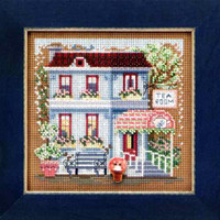 Tea Room Cross Stitch Kit Mill Hill 2013 Buttons & Beads Spring