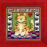 Kitty Paws Cross Stitch Kit Mill Hill 2013 Buttons & Beads Spring