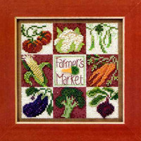 Farmer's Market Cross Stitch Kit Mill Hill 2013 Buttons & Beads Spring