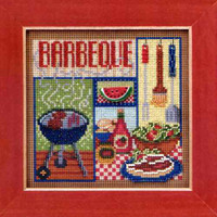Barbeque Cross Stitch Kit Mill Hill 2013 Buttons & Beads Spring