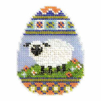 Sheep Egg Beaded Easter Cross Stitch Kit Mill Hill 2013 Spring Bouquet