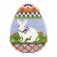 Bunny Egg Beaded Easter Cross Stitch Kit Mill Hill 2013 Spring Bouquet